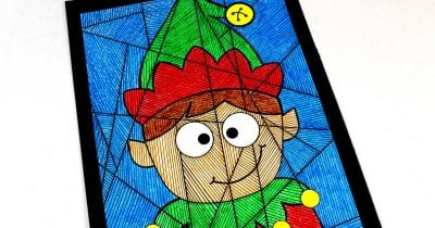 feature boy elf coloring page