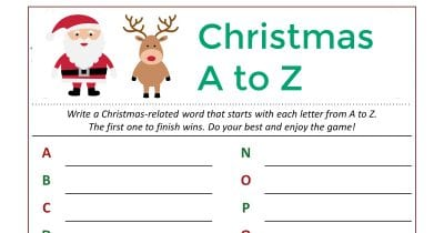 feature christmas word game