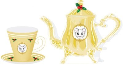 feature free printable gold tea party craft