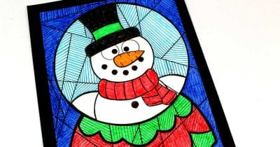 feature snow globe coloring page