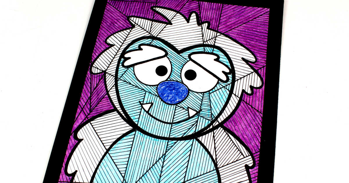 feature yeti coloring page