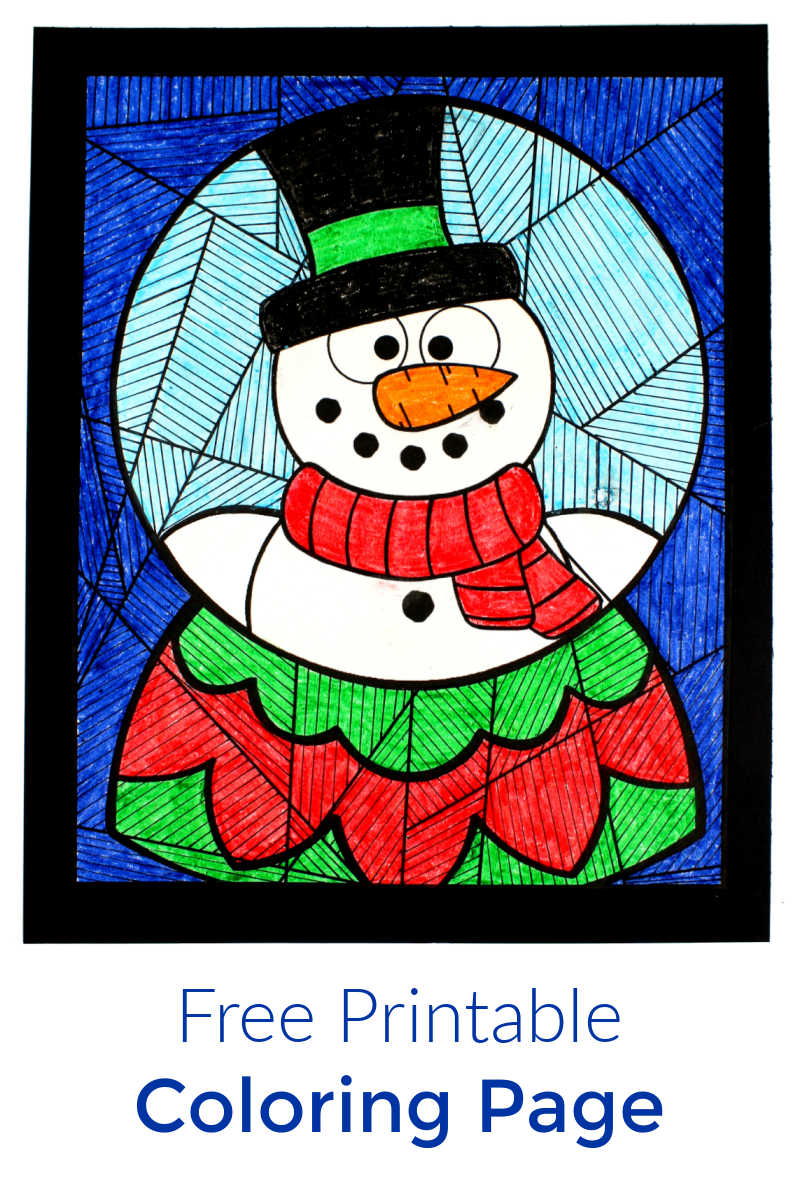 Color this free printable snow globe coloring page, so that you can create a festive work of art for your home.