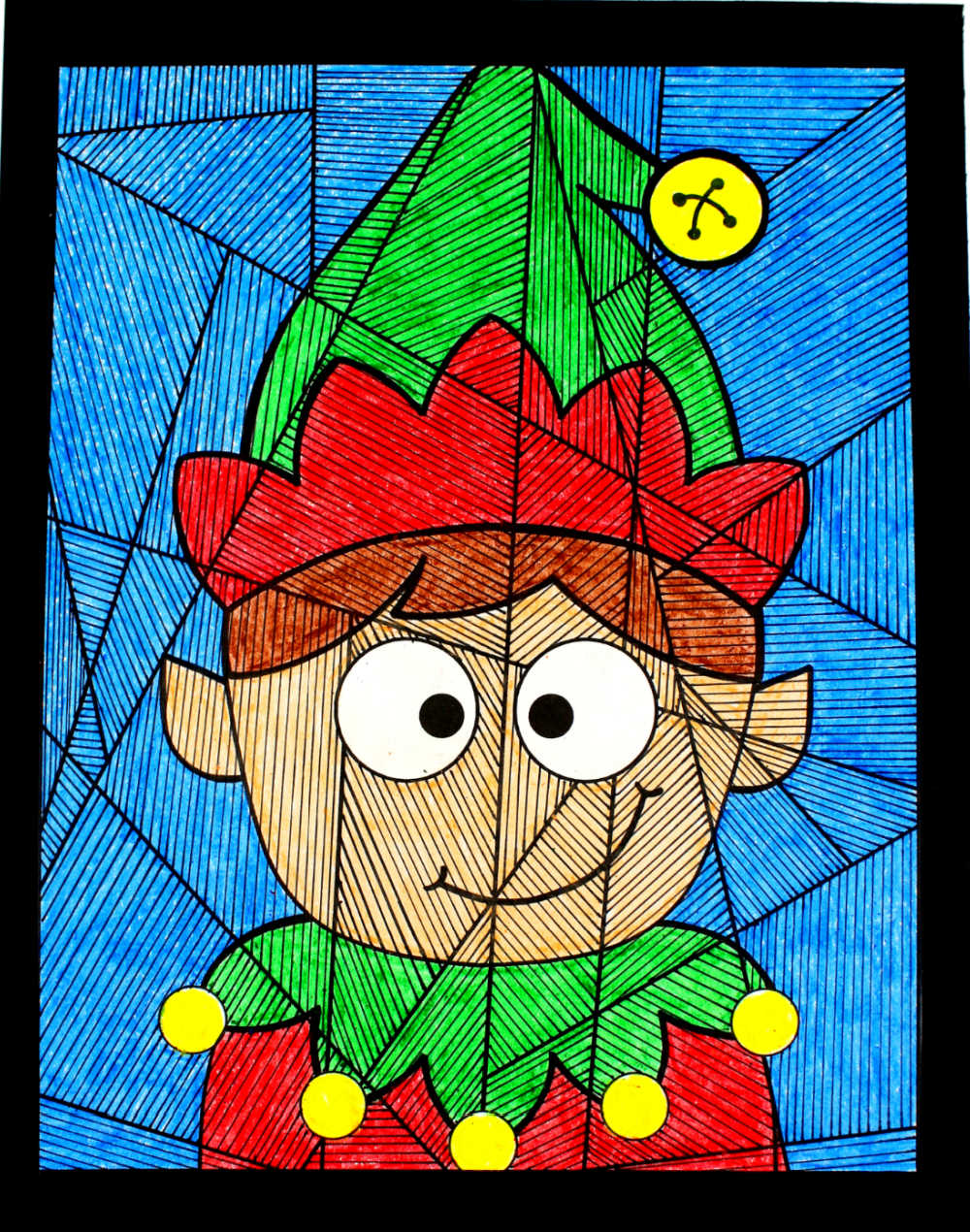 Make some creative and crafty holiday fun, when you download my free printable boy elf coloring page for Christmas.
