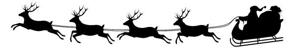 santa reindeer sleigh