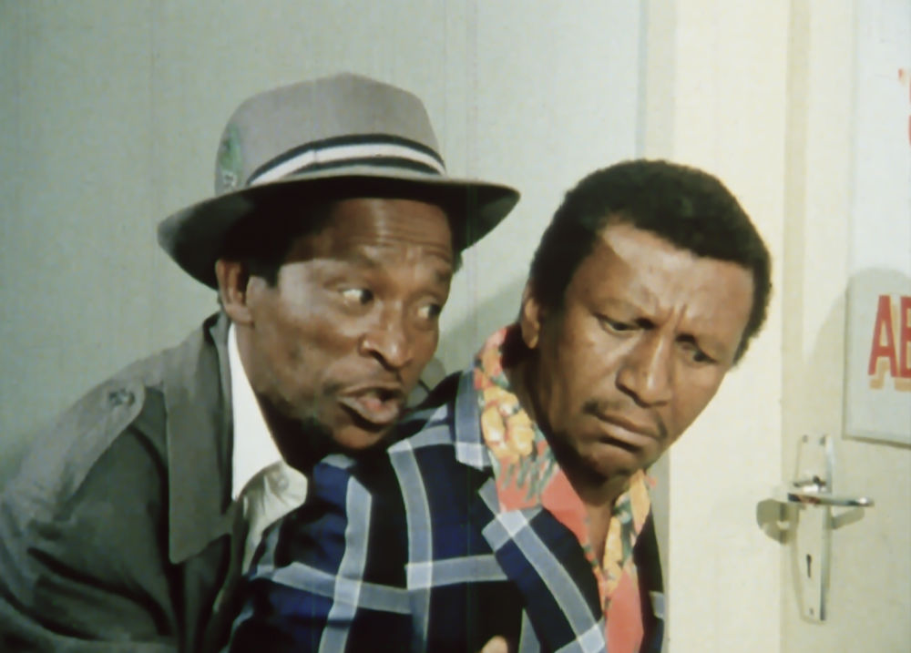 Enjoy the madcap comedy of Upondo and Nkinsela, when you watch the newly restored hilarious Retro Afrika DVD.