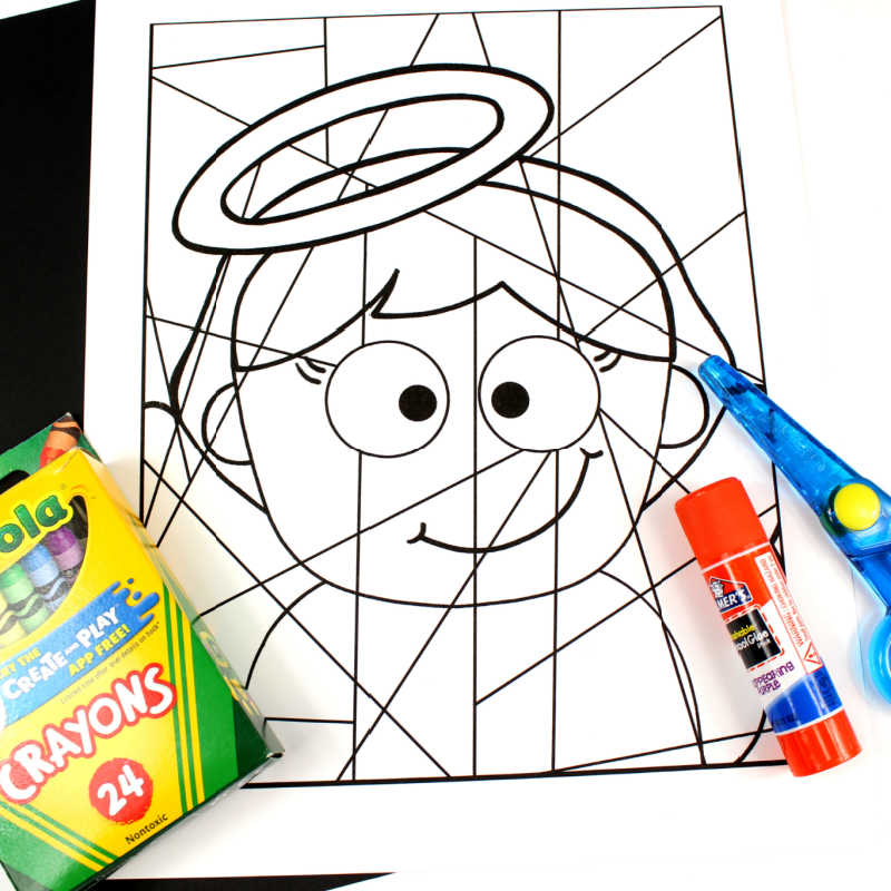 supplies for angel coloring craft