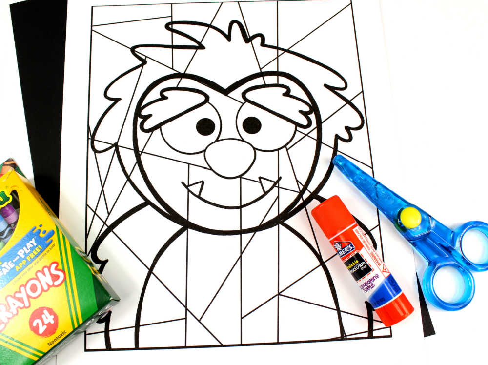 supplies yeti coloring craft