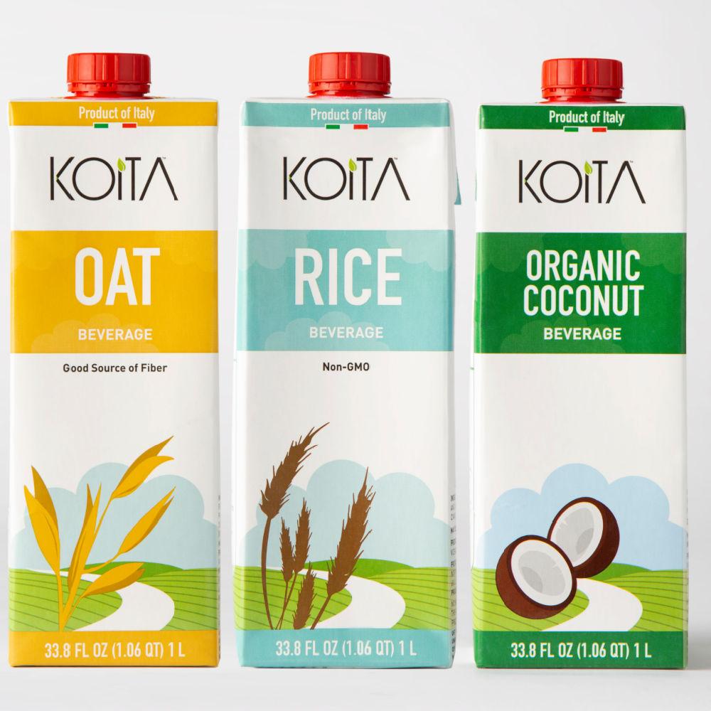 three cartons of koita milk alternative
