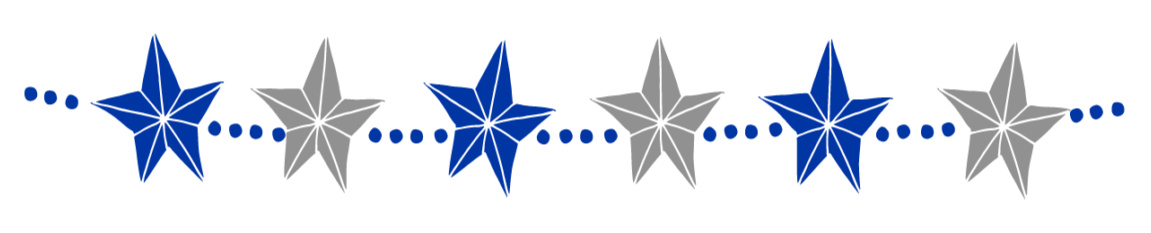 blue silver star banner