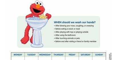 feature elmo hand washing chart