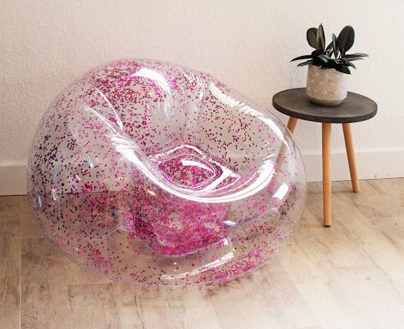 inflatable glitter chair