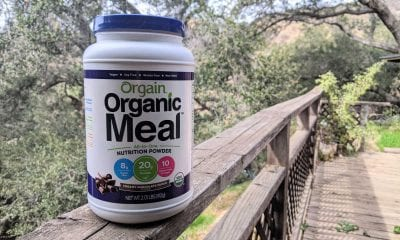 Container of orgain all in one nutrition powder.