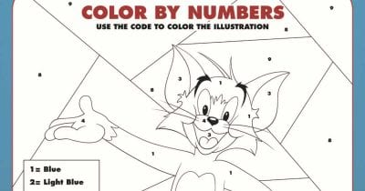 tom and jerry color by number