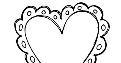 feature valentine heart coloring page