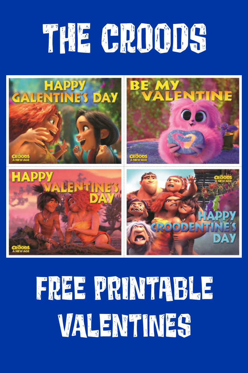 The Croods family is full of love, so it is great to share that love with these free printable Croods Valentines Day cards.