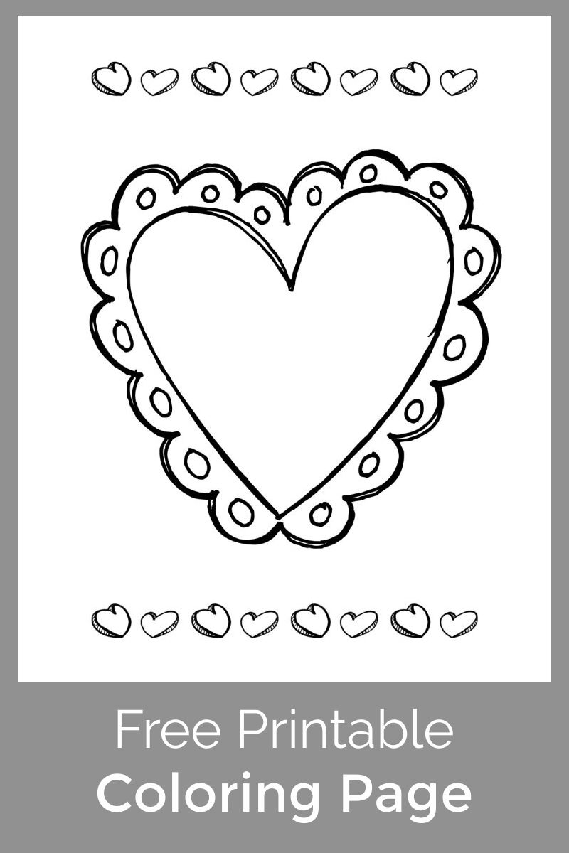 Download this free printable Valentine heart coloring page, so that your child can add a message and give it to a special someone.