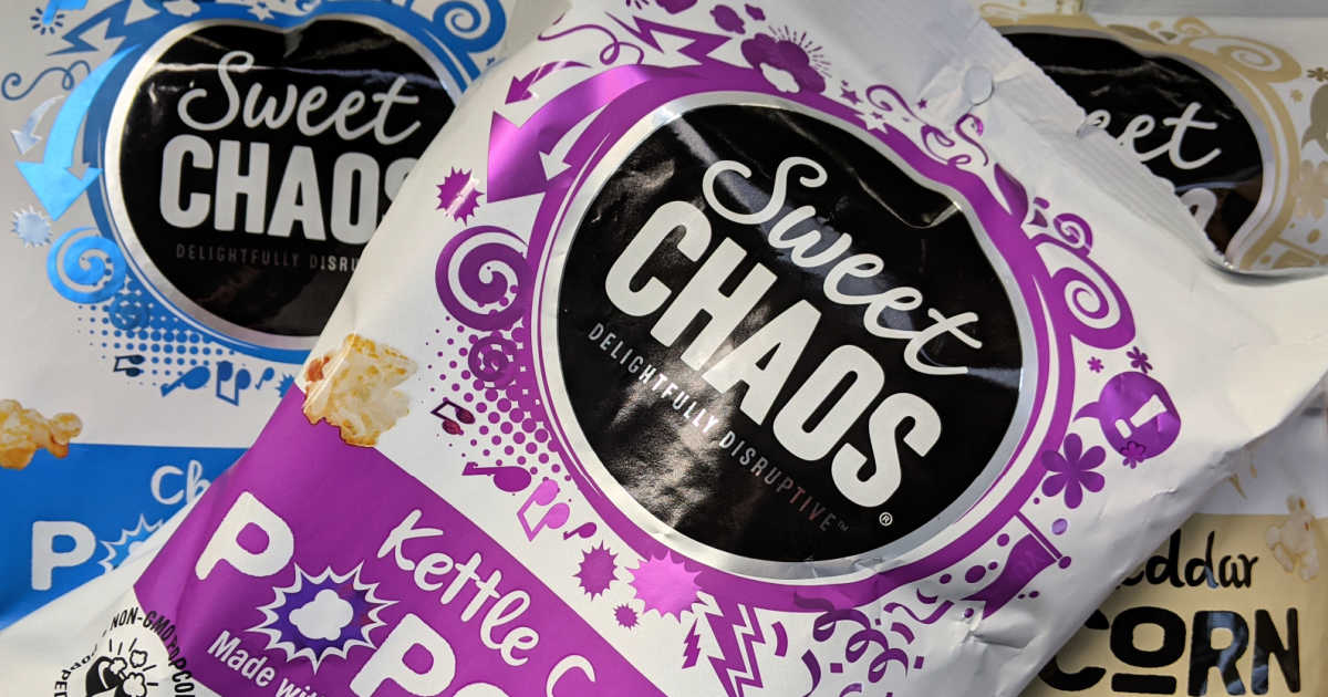 bags of sweet chaos popcorn