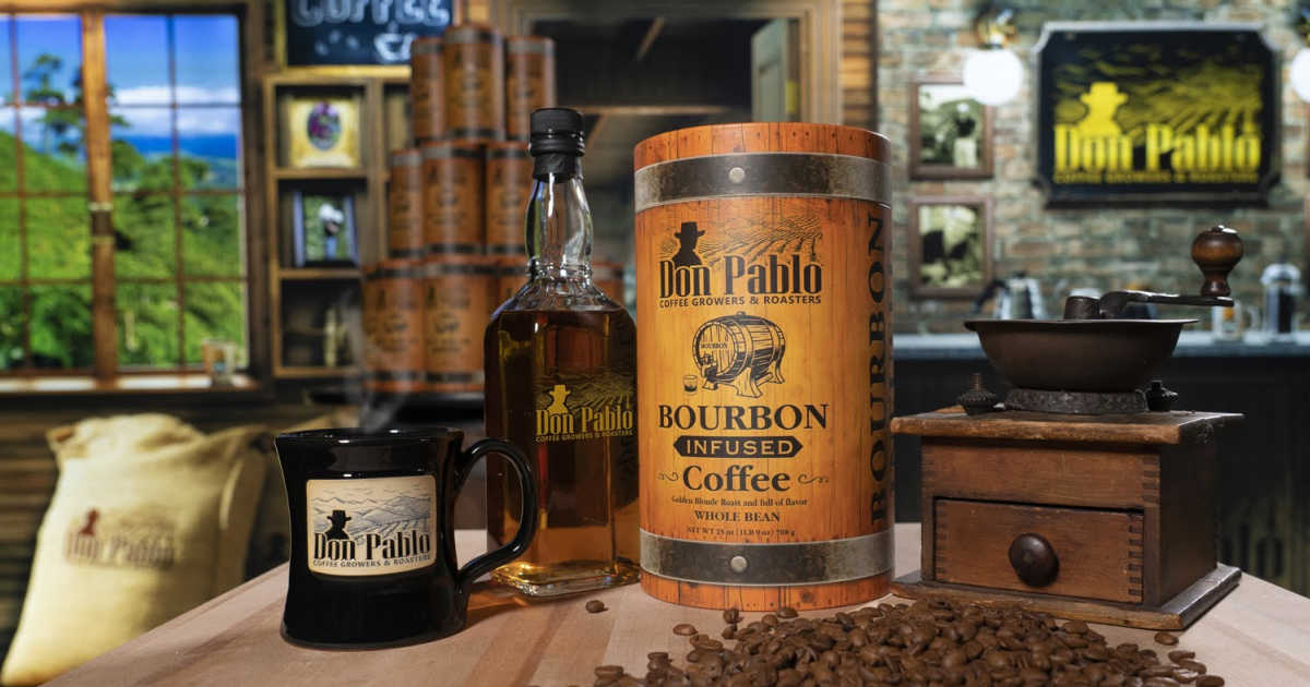 bourbon infused coffee from don pablo coffee roaster.