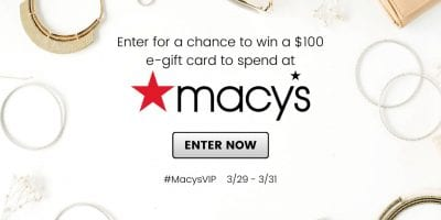 March Macys Gift Card Giveaway.