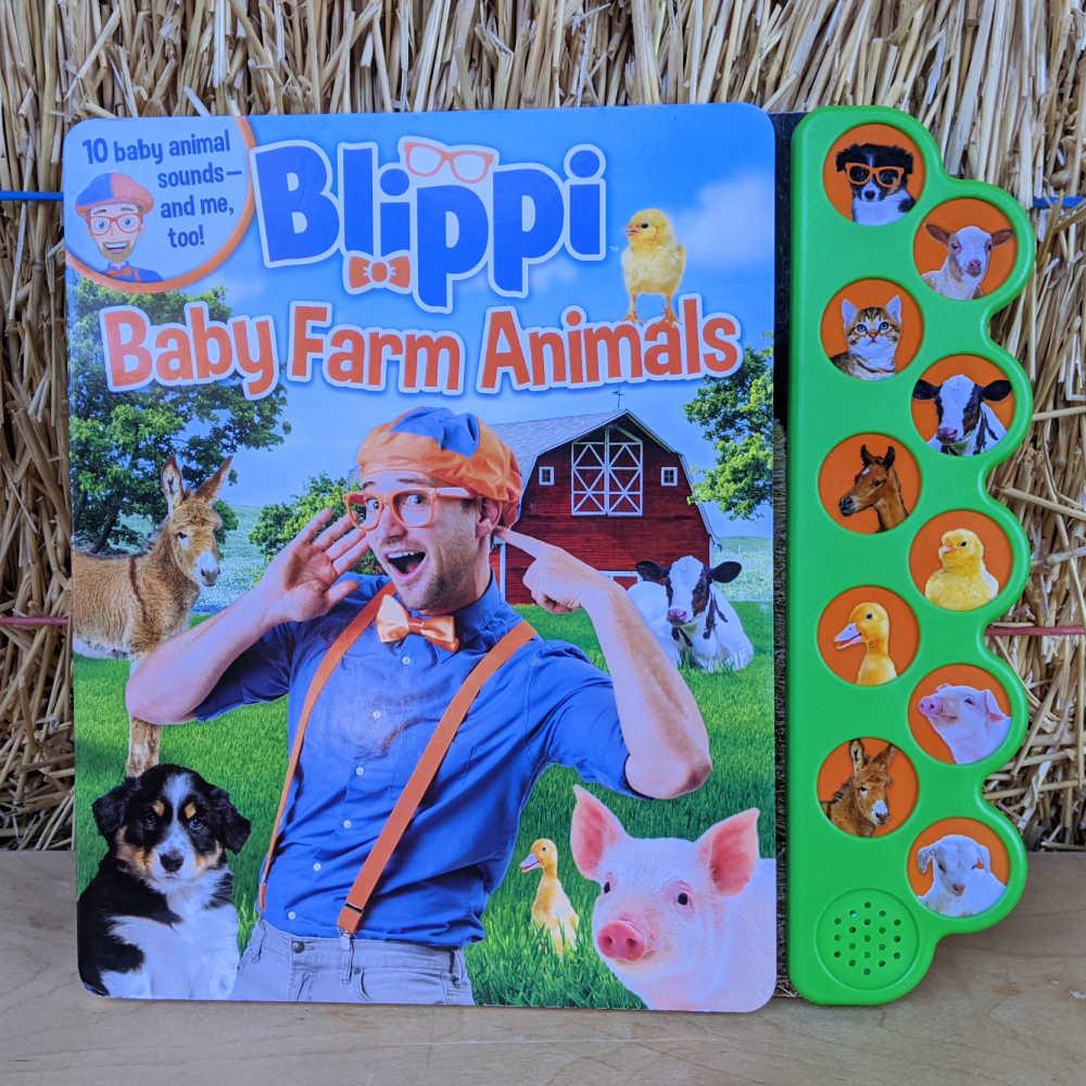 board book - blippi baby farm animals.