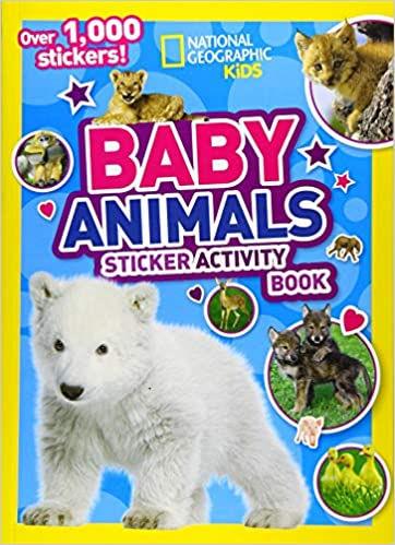 book - baby animals sticker activities.