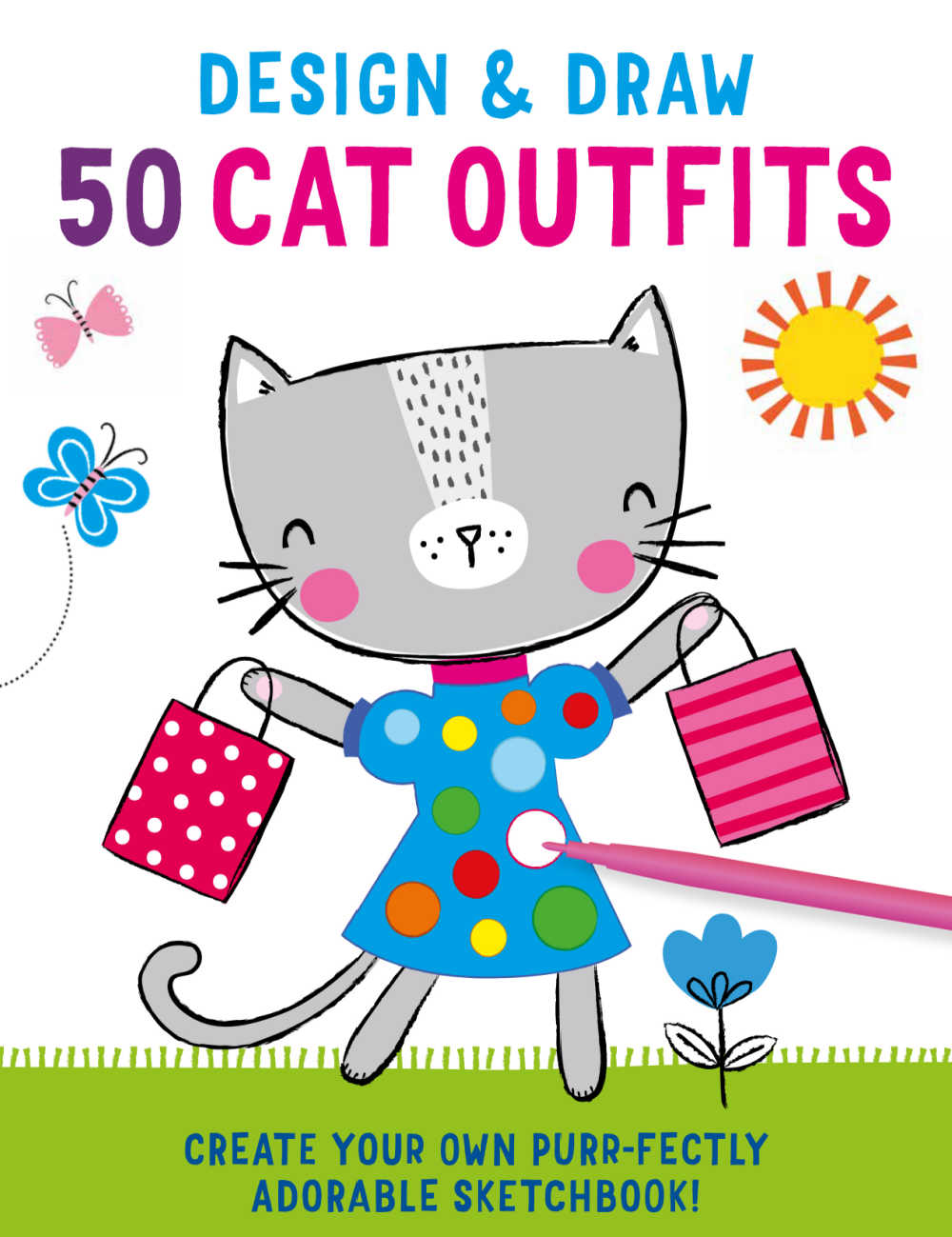 book - design and draw cat outfits.