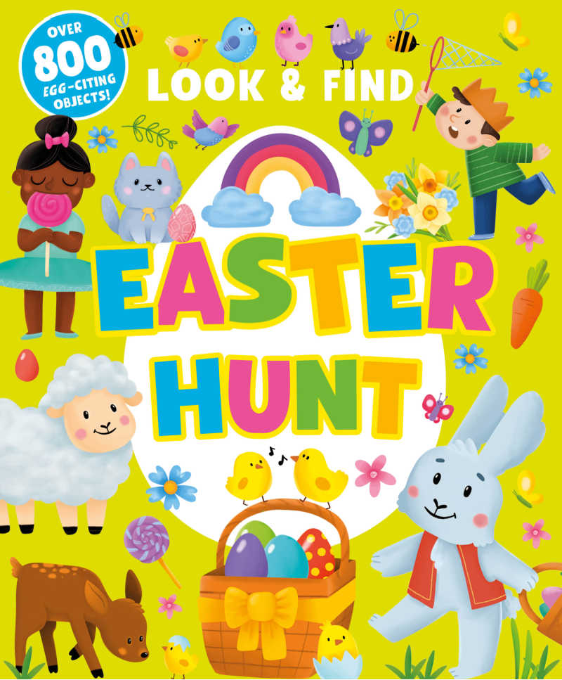 childrens book - look and find easter hunt.
