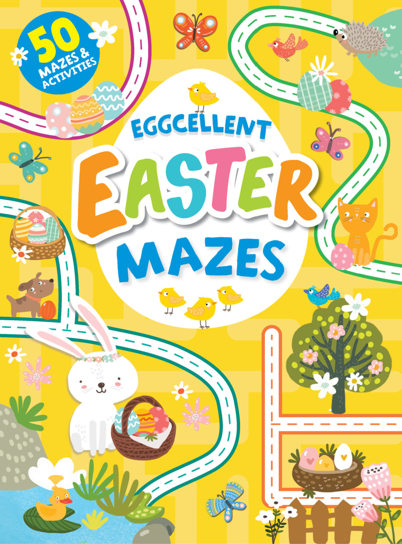 childrens book - eggcellent easter mazes.