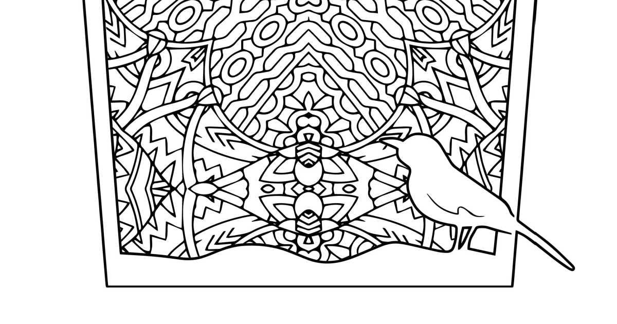 bird cage coloring page