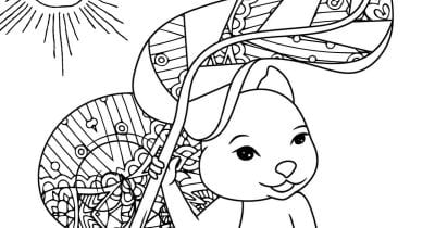 squirrel sunshine coloring page.