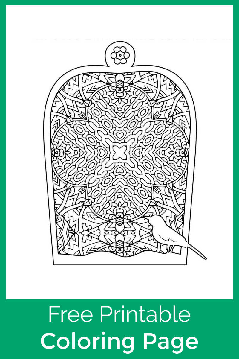 Download the free printable bird cage adult coloring page, so that you can help create a pretty living space for this cute little birdy.