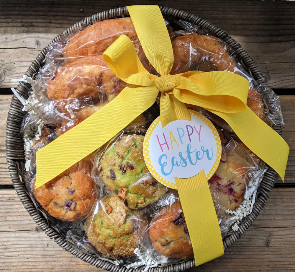 happy easter bakery basket.