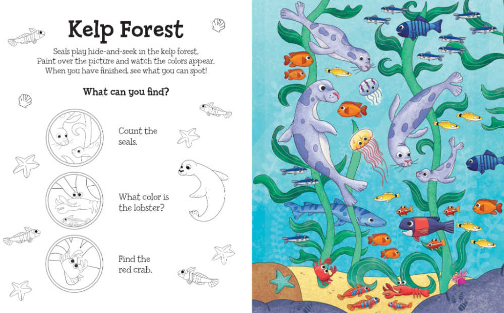 kelp forest magical water painting book.
