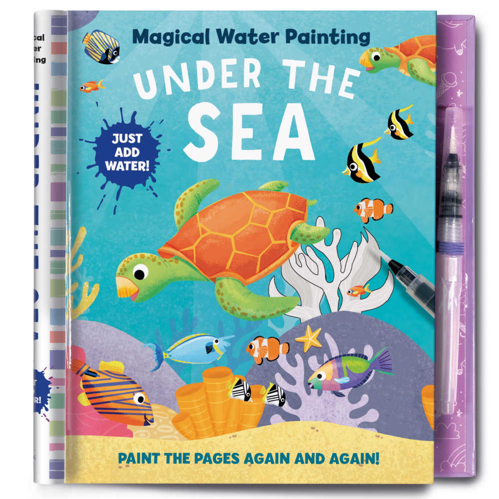 I love the ocean and creative activities, so, of course, I think this new Under The Sea Magical Water Painting activity book is great!
