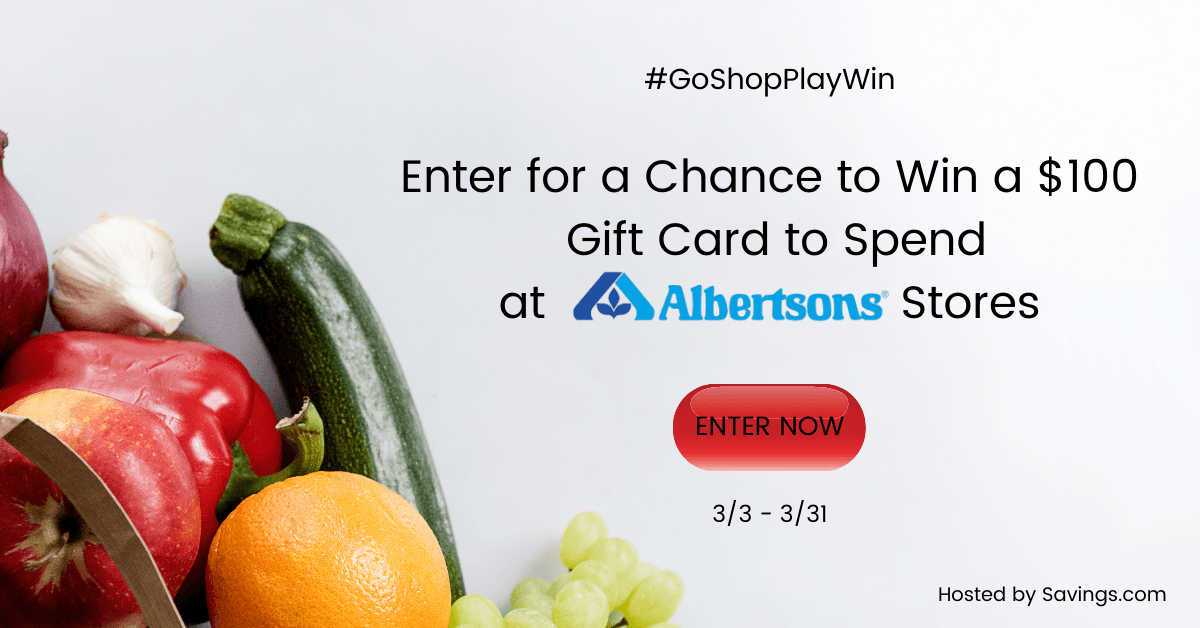 march 2021 albertsons gift card giveaway.