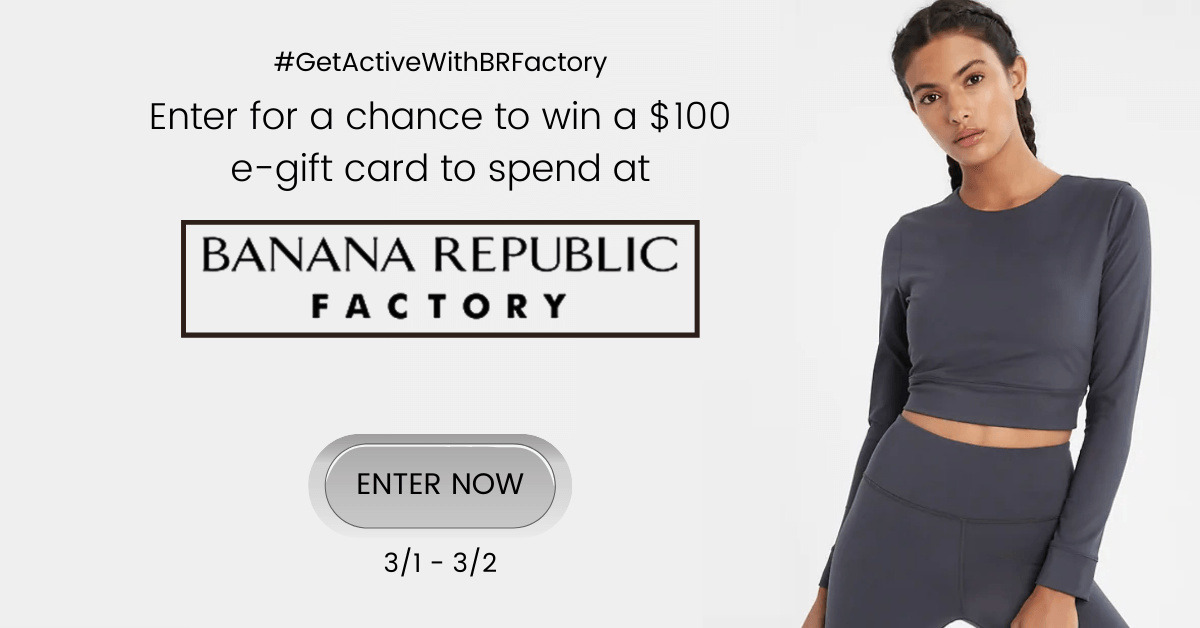 It is a great time to check out Banana Republic Factory, since there are so many amazing deals and a gift card giveaway.