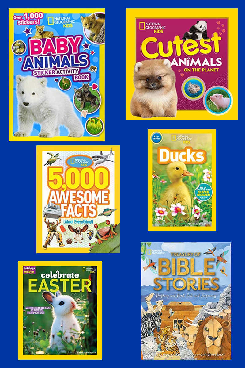 You'll want to get this collection of Nat Geo Kids Spring books, so that your children will be inspired as they expand their minds.