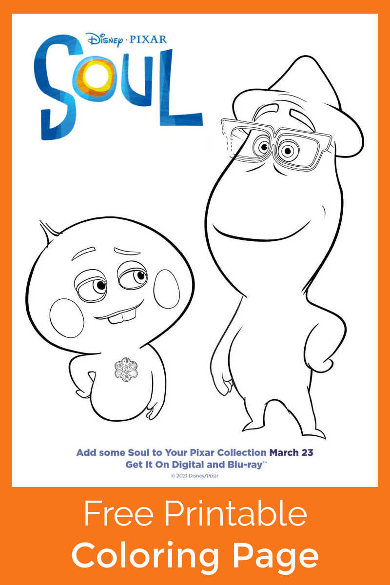 Your kids will have fun, when you download and print this Disney Pixar Soul coloring page featuring the stars of the movie.