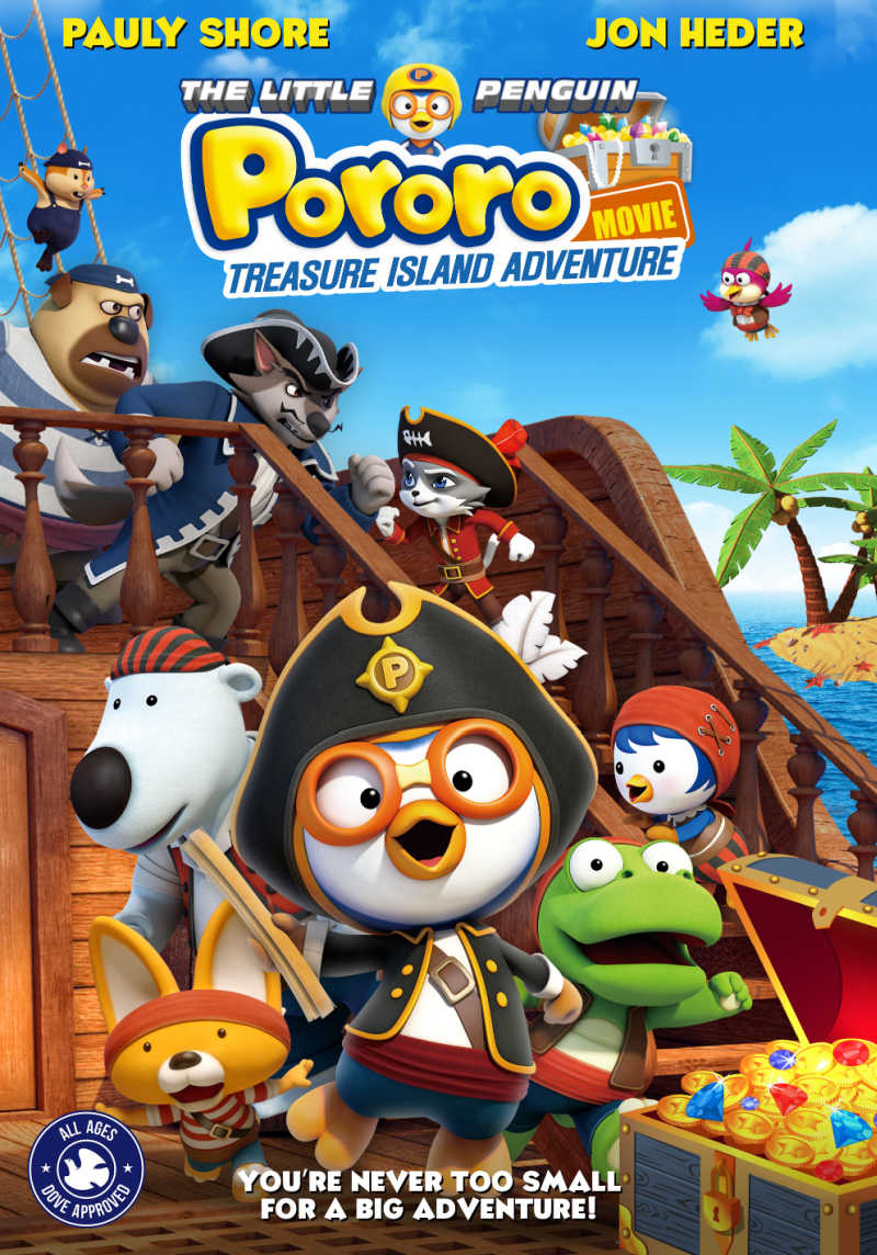 Your family will love the swashbuckling Pororo Treasure Island Adventure movie, since you are never too small for a big adventure.