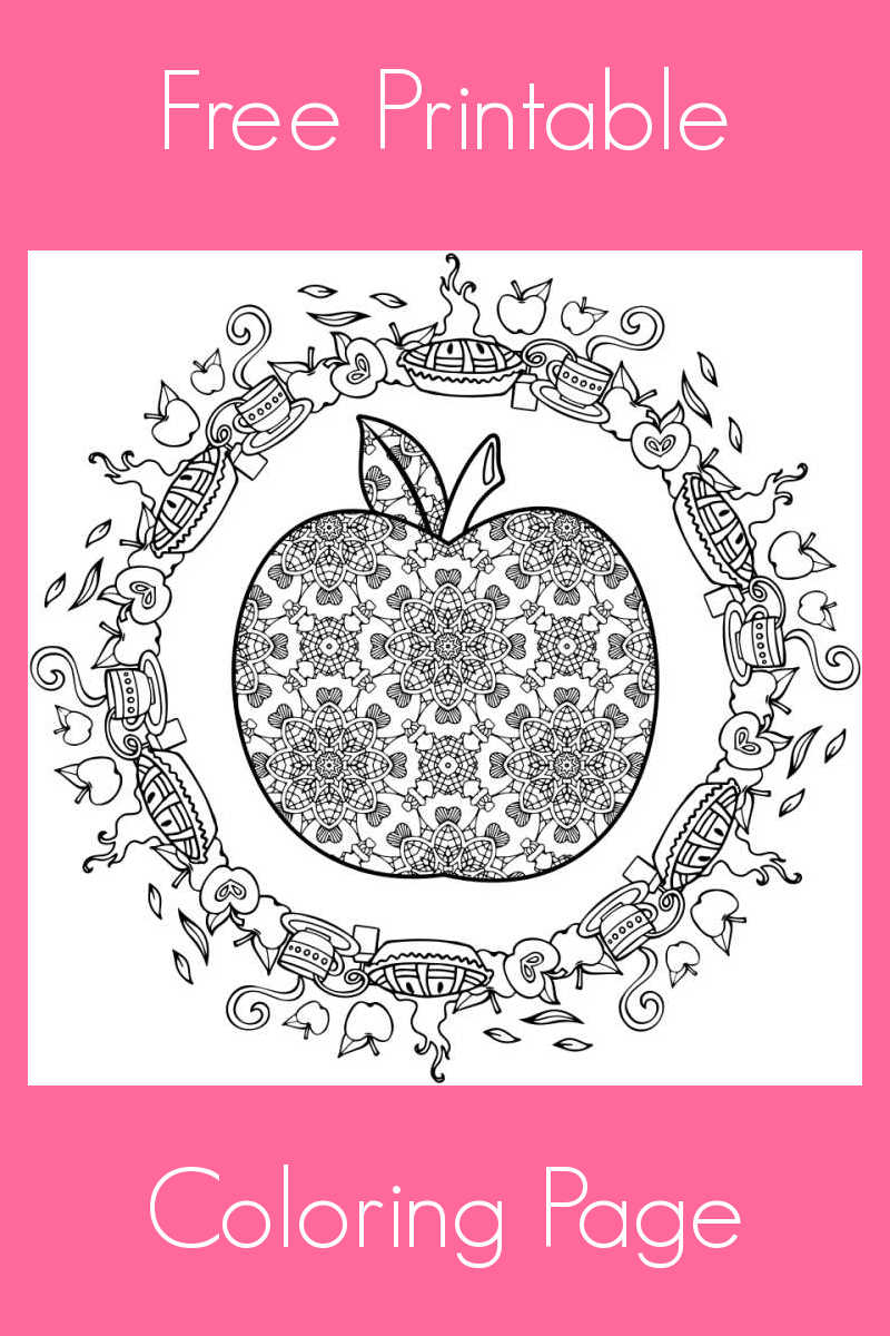 Download this free printable apple adult coloring page, so you (or your child!) can turn it into a beautiful work of art.