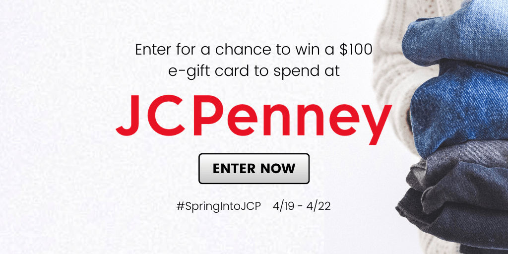 It's always fun to have some extra spending power, so it would be great fun to enter and win this JCPenney gift card giveaway.