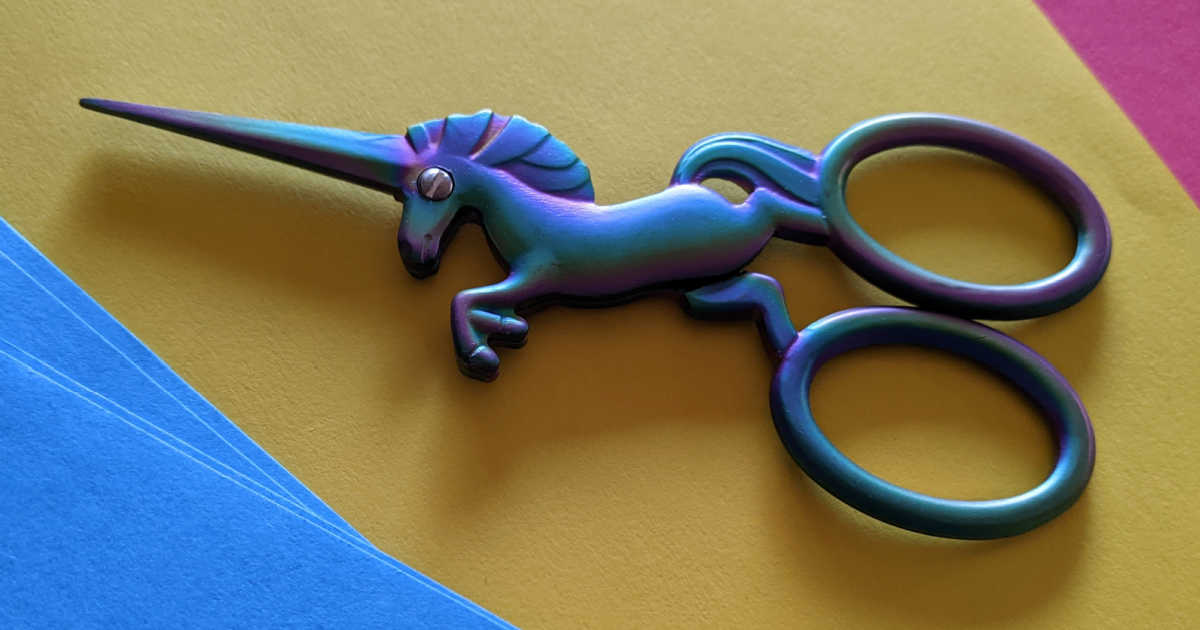 darn good yarn unicorn scissors.
