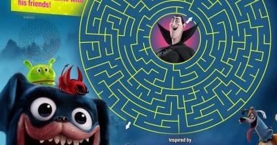 printable monster pets maze.