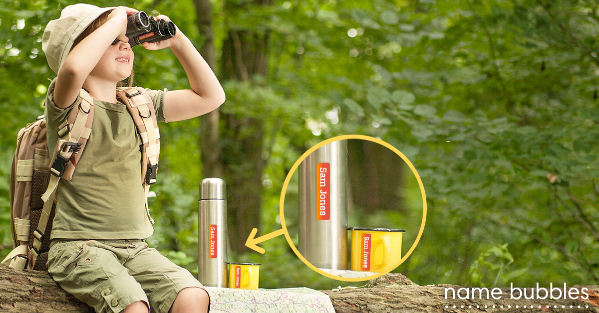 """Help your kids keep track of stuff, whether they are going to Summer camp or """"camping"""" with a sibling in the backyard."""