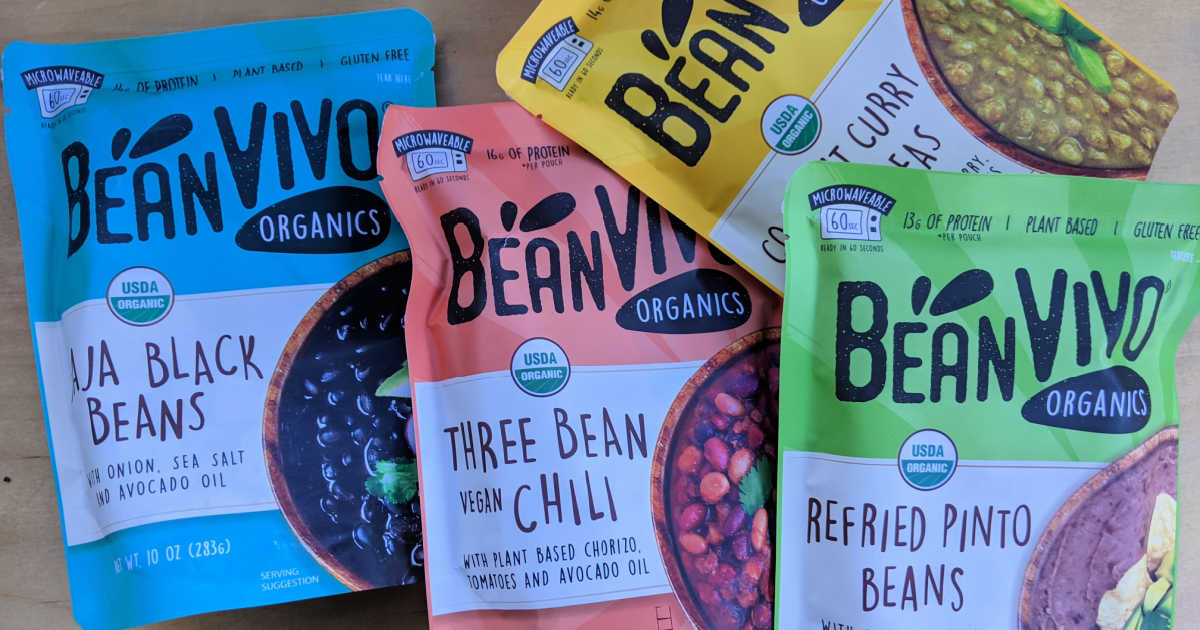 instant beanvivo meal pouches.