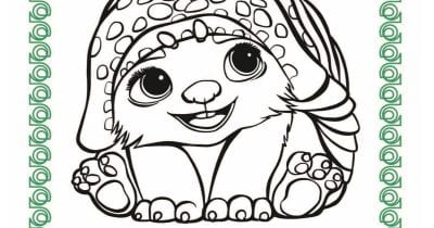 feature baby tuk tuk coloring page.