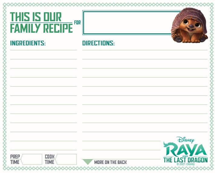 raya recipe card.