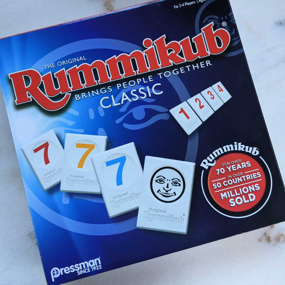 classic rummikub game box.