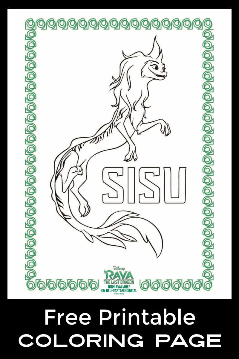 Download this free printable Sisu coloring page, so your child can color the Raya and The Last Dragon character.