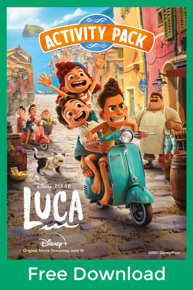 Your child can have a whole lot of fun, when you download the free printable Luca activities from Disney Pixar.